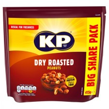 KP Dry Roasted Peanuts 415g