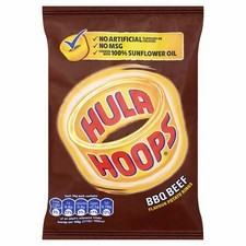 KP Hula Hoops BBQ Beef 32x 34g Pack