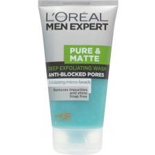L'Oreal Men Pure and Matt Expert Deep Exfoliating Gel Wash 150ml