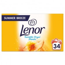 Lenor Tumble Dryer Sheets Summer Breeze 34 Pack