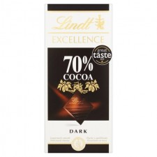 Lindt Excellence 70% Cocoa Dark Chocolate 100g