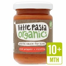 Little Pasta Organics Red Pepper and Ricotta Pasta Sauce 130g 10 Months