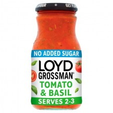 Loyd Grossman No Added Sugar Tomato And Basil Sauce 350g