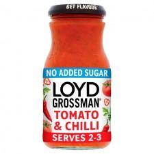 Loyd Grossman No Added Sugar Tomato and Chilli Pasta Sauce 350g