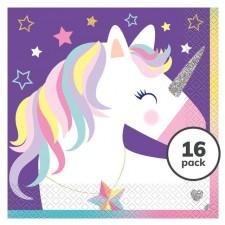 Magical Unicorn Napkins 16 per pack