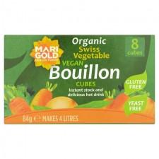 Marigold Organic Swiss Vegetable Vegan Yeast Free Bouillon Cube Green 84g