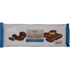 Marks and Spencer 8 Individually Wrapped Milk Chocolate Biscuit Bars 168g