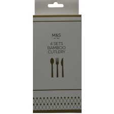 Marks and Spencer Bamboo Cutlery 4 sets