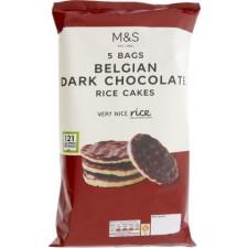 Marks and Spencer Belgian Dark Chocolate Mini corn and Rice Cakes 5 x 25g
