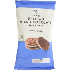 Marks and Spencer Belgian Milk Chocolate Mini corn and Rice Cakes 5 x 25g