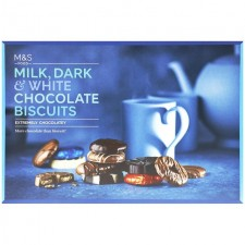 Marks and Spencer Biscuit Selection Milk Dark and White 450g