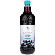 Marks and Spencer Blackcurrant No Added Sugar High Juice 1 litre