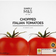 Marks and Spencer Chopped Italian Tomatoes 4 x 400g