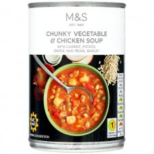 Marks and Spencer Chunky Vegetable and Chicken Soup 400g