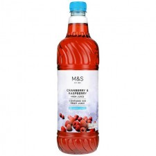 Marks and Spencer Cranberry and Raspberry High Juice No Added Sugar 1 litre