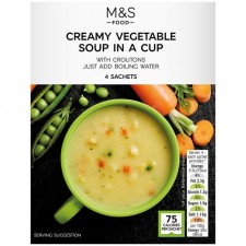 Marks and Spencer Creamy Vegetable Soup in a Cup 4 x 22g