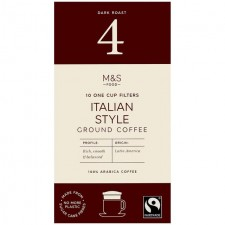 Marks and Spencer Ground Coffee One Cup Filter 10 Pack Italian