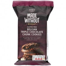 Marks and Spencer Made Without Wheat Belgian Triple Chocolate Chunk Cookies 170g