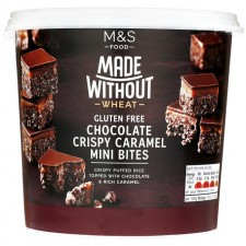 Marks and Spencer Made Without Wheat Extremely Chocolatey Caramel Crispie Mini Bites 270g
