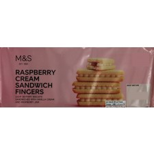 Marks and Spencer Raspberry Cream Sandwich Fingers Biscuits 150g
