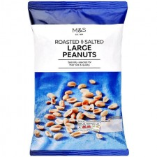 Marks and Spencer Roasted and Salted Large Peanuts 550g