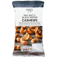 Marks and Spencer Salt and Black Pepper Roasted Cashews 150g.