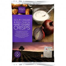 Marks and Spencer Sour Cream and Red Onion Handcooked Crisps 150g