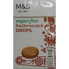 Marks and Spencer Sugar Free Butterscotch Drops 42g box