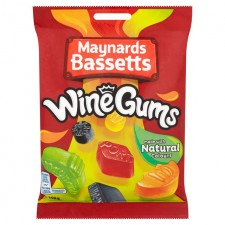 Maynards Bassetts Wine Gums 190g Bag