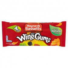 Maynards Bassetts Wine Gums Rolls 4x52g Pack