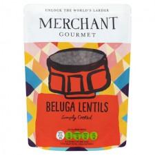Merchant Gourmet Ready to Eat Black Beluga Lentils 250g