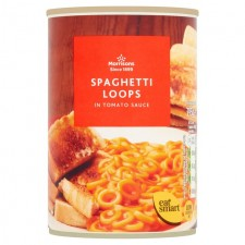 Morrisons Spaghetti Loops in Tomato Sauce 395g