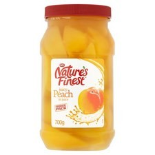 Natures Finest Peach Slices in Juice 700g