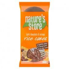Natures Store Gluten Free Dark Chocolate and Orange Rice Cakes 100g