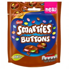 Nestle Smarties Buttons Milk Chocolate 90G