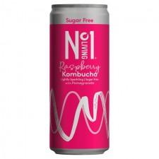 No.1 Living Sugar Free Kombucha Raspberry with Pomegranate 250ml