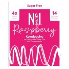 No.1 Living Sugar Free Kombucha Raspberry with Pomegranate 4 x 250ml