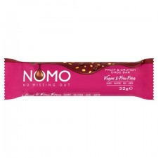 Nomo Vegan and Free From Fruit and Crunch Chocolate Bar 38g