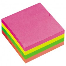 OfficeTeam Repositional Notes Neon 400 Pack