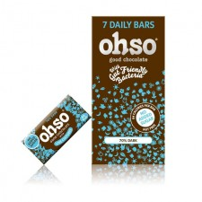 Ohso 7 Bars No Added Sugar Dark Chocolate 72% 7 per pack