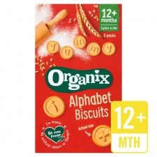 Organix 12 Month Alphabet Biscuits 5x25g