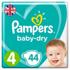 Pampers Baby Dry Nappies Size 4 x 44
