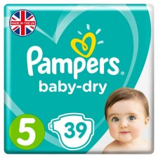 Pampers Baby Dry Nappies Size 5 x 39