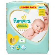 Pampers New Baby Size 1 Newborn x 72