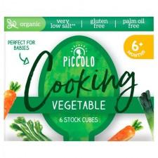 Piccolo Organic Stock Cubes Vegetable 6 x 8g