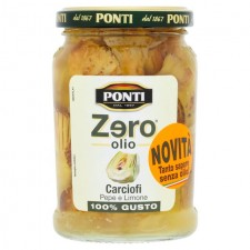 Ponti Zero Olio Pepper And Lemon Artichokes 314ml