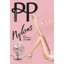 Pretty Polly 10 Denier Gloss Tights Black M-L