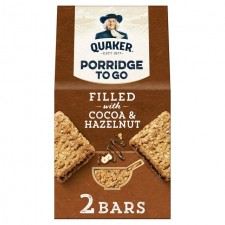 Quaker Porridge To Go Filled with Cocoa and Hazelnut 2 x 65g