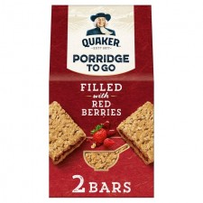 Quaker Porridge To Go Filled with Red Berries 2 x 65g