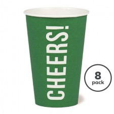 Recyclable Cheers Cup Green 8 per pack